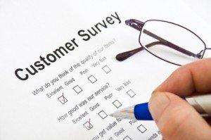 Customer Survey data entry