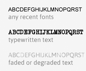 An image displaying how text is converted using OCR (Optimal Character Recognition) technology