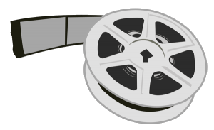 A reel of 35mm microfilm